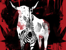 DRAGON BULL ZEBRA T-Shirt Design by