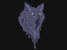 painted wolf T-Shirt Design by