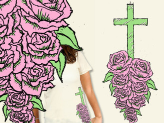 Cross & Roses by EmbraceDesigns