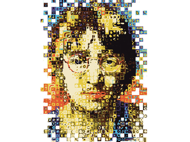 Chuck Close meet John Lennon