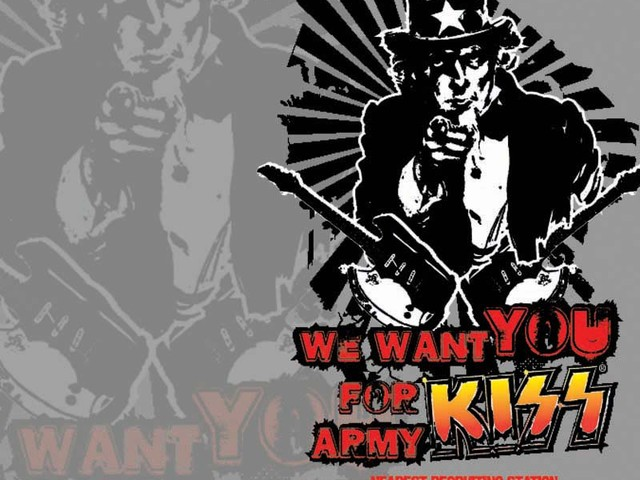 Uncle Sam Pulling for the KISS Army