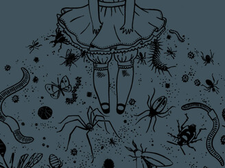 skirt full of creatures by Stasia