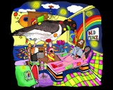 peace bed candy dream by kunstvergrijp