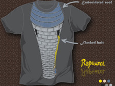 Emo Rapunzel T-Shirt Design by