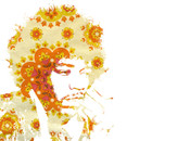 Flower Power Jimi by ckuniqueart