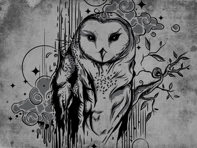inking an owl