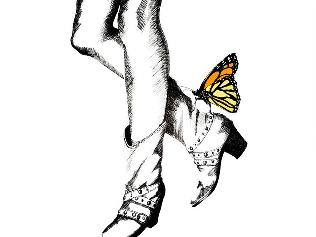 Pen and Butterfly