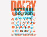 Dairy Typography by grafismo