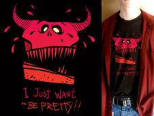 I Just Want To Be Pretty T-Shirt Design by
