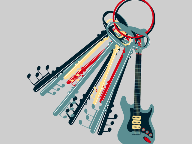 BUNCH OF MUSIC KEYS