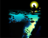 Fishing in the Moonlight by PenGrapH