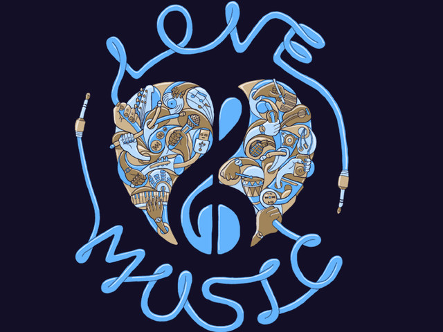 Love Music Blue
