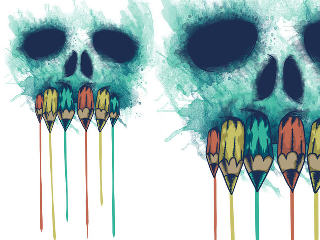 The Pencil And Skull