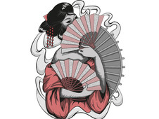 Smokey Geisha T-Shirt Design by
