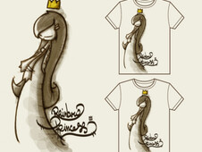 Rainbow princess T-Shirt Design by