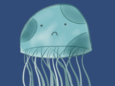 Sad Jellyfish T-Shirt Design by