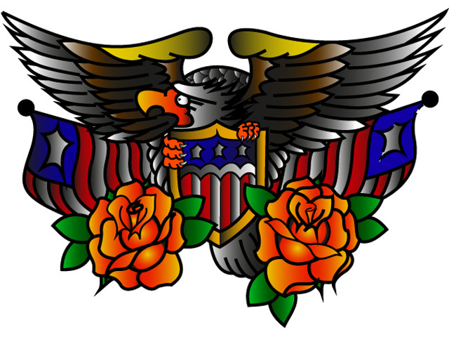 us eagle tattoo art