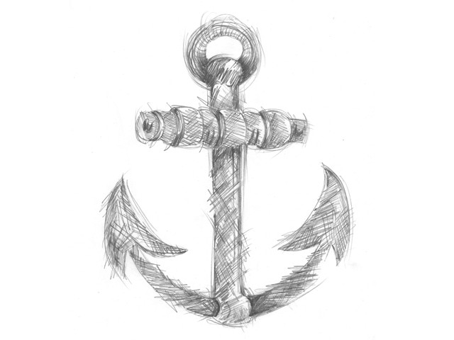Anchor sketched by rajiv