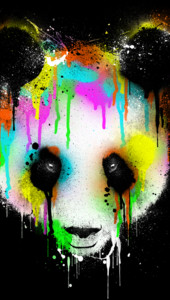Technicolour Panda T-Shirt