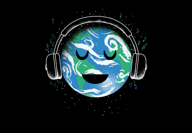 The whole earth loves music  Artwork