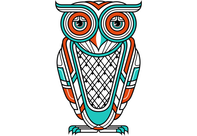 Art Deco Owl (Diurnal)  Artwork