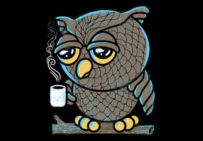 Owl I want is Coffee  Artwork