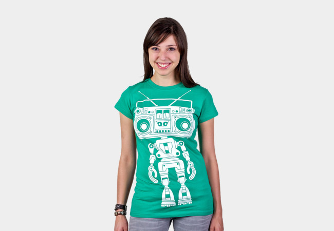 Boombox Boy Bot T-Shirt - Design By Humans