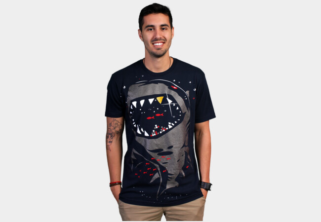 Limited Edition - Shark with Pixelated Teeth T-Shirt - Design By Humans