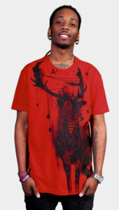 Deer On The Red Light T-Shirt