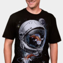 DesignLawrence wearing Space Koi by DrSpazmo