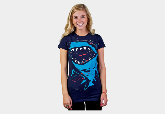 Shark with pixelated teeth! T-Shirt - Design By Humans