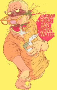 Albino Robot Can't Drink Water