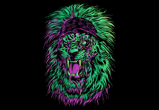 Zombie Lion Green  Artwork