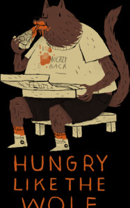hungry like the wolf(black)