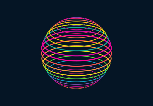 Neon Strings of Globe  Artwork