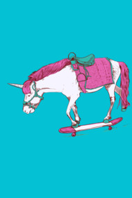 Unicorn on a Skateboard