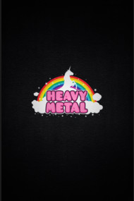 HEAVY METAL! (Funny Unicorn / Rainbow Mosh Parody Design)