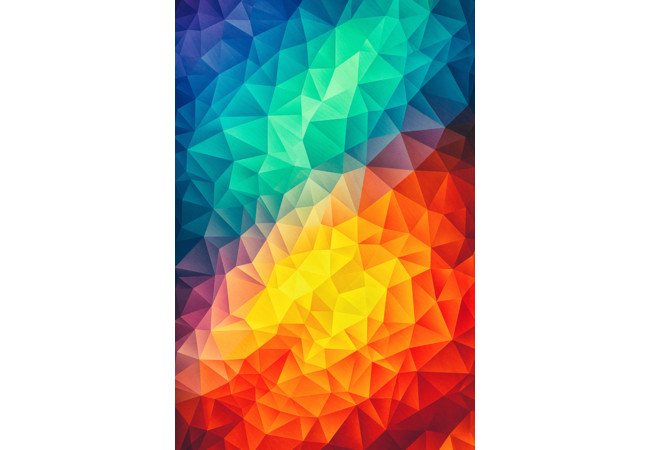 Abstract Multi Color Cubizm Painting  Artwork