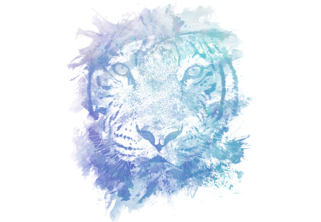 Abstract Watercolor Tiger Portrait / Face  Artwork