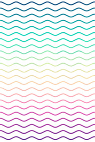 Abstract Geometric  Candy / Rainbow Waves Pattern (Multi Color)
