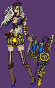 Steampunk Tattoo Girl