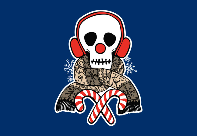 Stay Warm Holiday Skull  Artwork