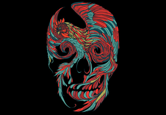 Rooster Skull  Artwork
