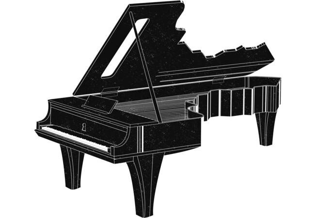 Grand Piano Key.  Artwork