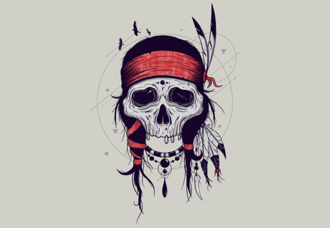 NATIVE SKULL  Artwork
