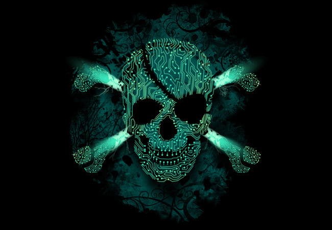 Cyber Skull green  Artwork