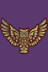 Flying Owl Mascot Decoration