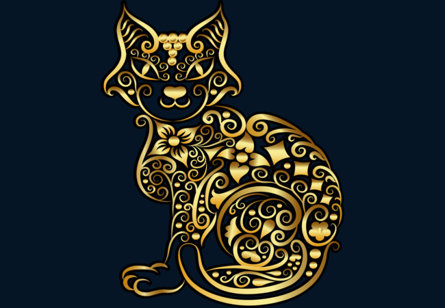 Golden Cat  Artwork