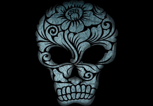 Skull Head Ornament  Artwork