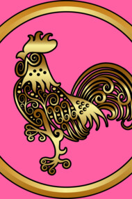 Golden Rooster Decoration